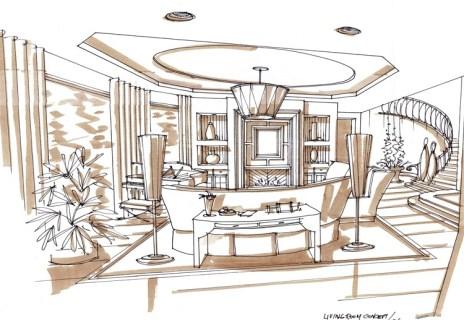 Pretty Living Room Skecth