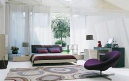 Amazing White And Violet Interior Design Regarding Violet Interior Design
