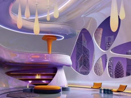 Bedroom Neutral Interior Design Violet Bright Room Chicism In Violet Interior Design