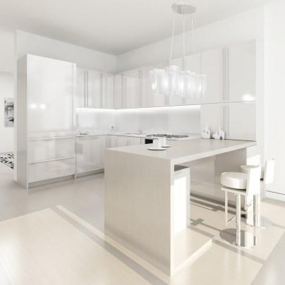 Extra Minimal Super Stylish White Kitchen With Regard To Minimal White Kitchen