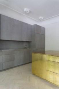 Gold Grey Minimal Super Stylish White Kitchen Within Minimal Super Stylish White Kitchen