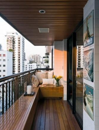 Modern Apartment Design With Wooden Balcony Inside Modern Balcony Design