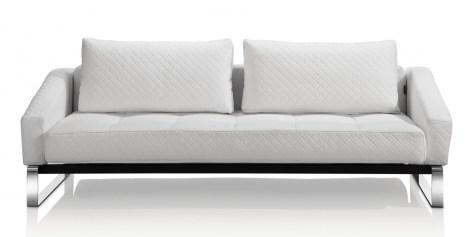 Modern White Leather Sofa Bed Sleeper Pertaining To Elegant Sofa Sleeper Design