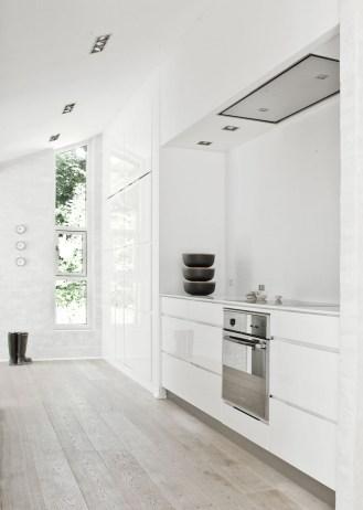 Phenomenon Minimal Super Stylish White Kitchen Regarding Minimal White Kitchen
