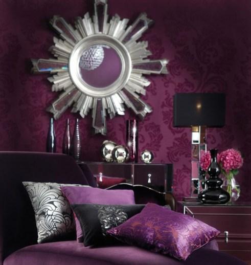 Purple Home Interior Design – House Of Samples Intended For Violet Interior Design