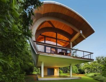 Superb Curve Unique House Design With Unique House Design