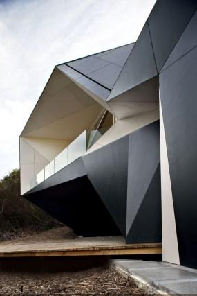Surprising Unique Home Design With A Complex Geometrical Shape With Regard To Home Geometric Shape Design