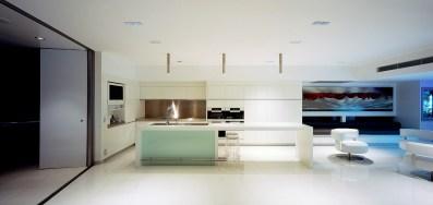 Ultramodern Minimal Monolithic White Interiors Inside Minimal Super Stylish White Kitchen