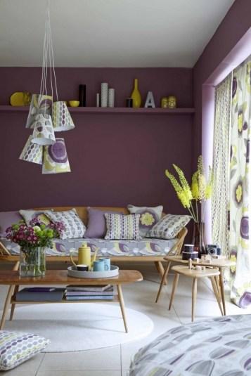 Violet Living Room Color Regarding Violet Interior Design