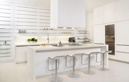 White Contemporary Kitchen For Minimal White Kitchen