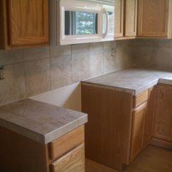 Glass Tile Kitchen Countertop Most Popular Cabinets Ceramic Countertops