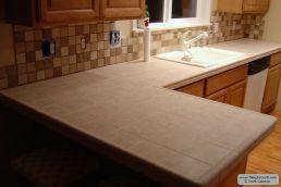 Porcelain Backsplash With Granite Countertops