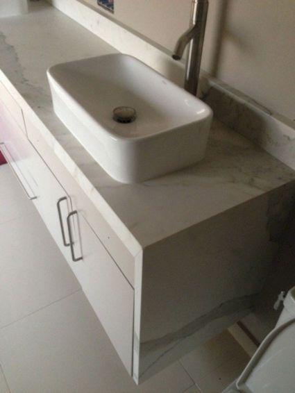Porcelain Slab Countertop Bathroom