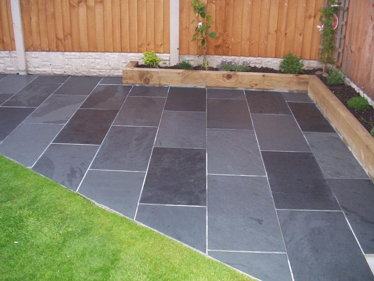 Black Slate Tile Outdoors Patio Black Slate Tile Outdoors