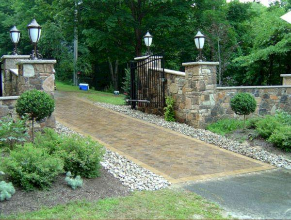 popular entrance landscaping