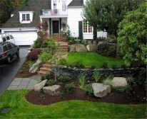 Front Entrance Landscape Design Idea