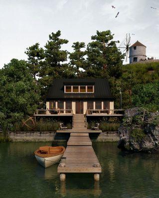 Mansion House On Lake