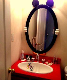 Mickey Mouse Bathroom Mirror Design