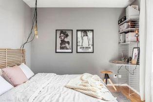 Pastels And Gray Bedroom Walls