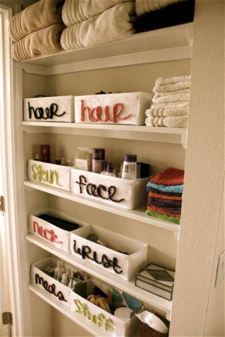 Small Bathroom Closet Organization Ideas