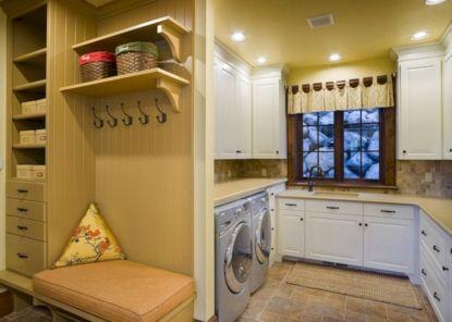 Small Mudroom Laundry Room Design
