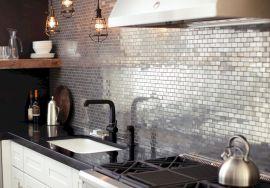 Faux Tin Backsplash Tiles For Kitchen Ideas