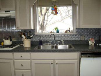 Faux Tin Backsplash Tiles For Kitchen