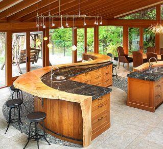 Kitchen Countertop Bar Designs
