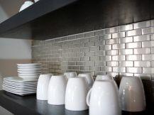 Stainless Steel Kitchen Backsplashes