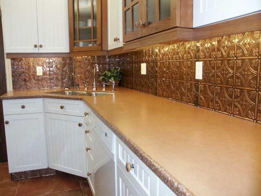 metal kitchen backsplash cabinets color combination 35 43 beautiful rustic tile ideas