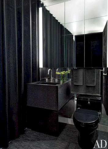 All Black Bathroom