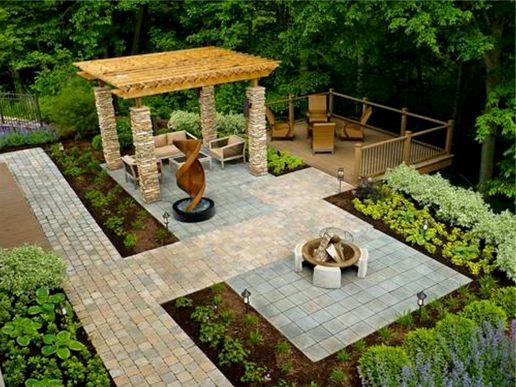 Back Yard Landscape Design Idea