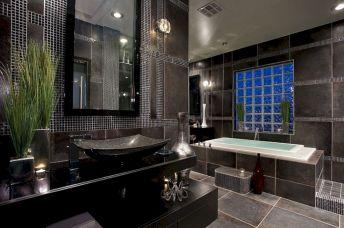Black And Grey Master Bathroom Designs