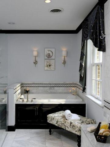Black And White Bathroom Design Idea