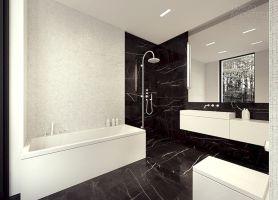 Black And White Marble Bathroom Design