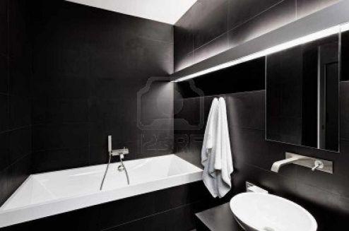 Black And White Modern Bathroom Ideas