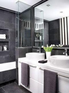 Blacks And White Bathroom