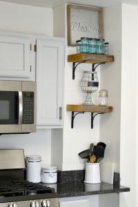 DIY Reclaimed Wood Kitchen Shelves (DIY Reclaimed Wood ...