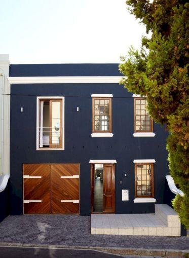 Dark Blue Exterior House Color Door