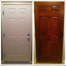 Gel Stain White Door