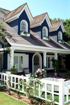 Navy Blue Exterior House Color Idea