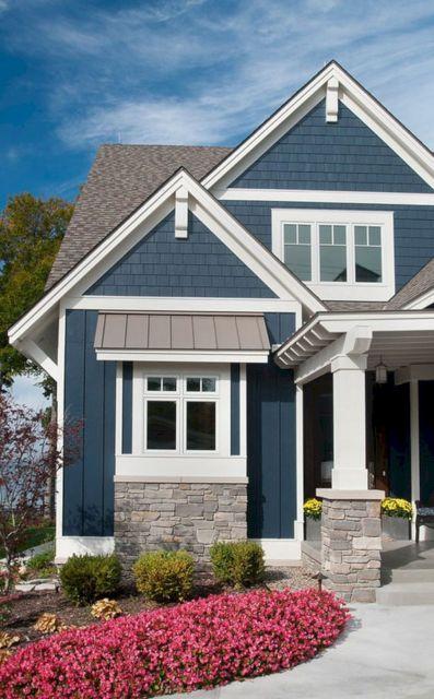 Navy Blue Exterior House Color