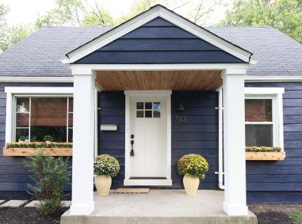 Navy Blue Exterior House Paint Color