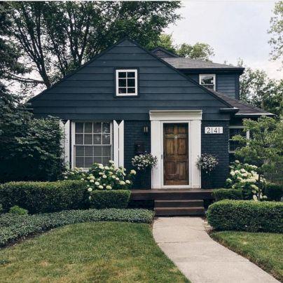 Navy Blue Exterior House Paint Colors Design
