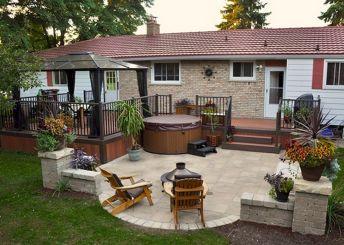 Outdoor Back Yard Living Room Design Ideas
