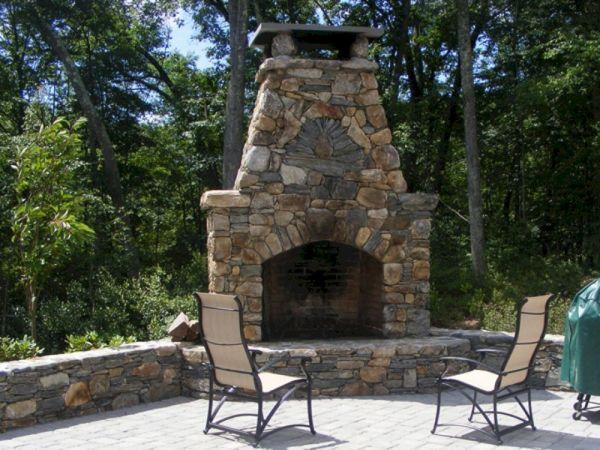 Outdoor Stone Fireplace Design Ideas