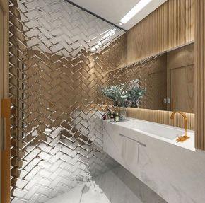 33+ Amazing Mirror Bathroom Tiles For Bathroom Looks Luxurious 130