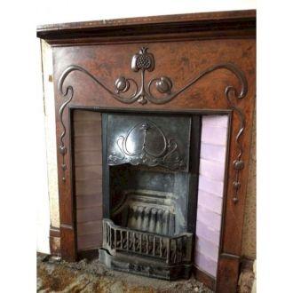 Antique Vintage Cast Iron Fireplace