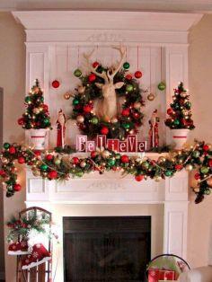 Christmas Mantel Decor Idea