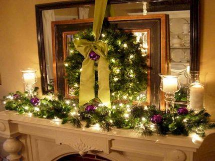 Fireplace Mantel Christmas Decorations Ideas